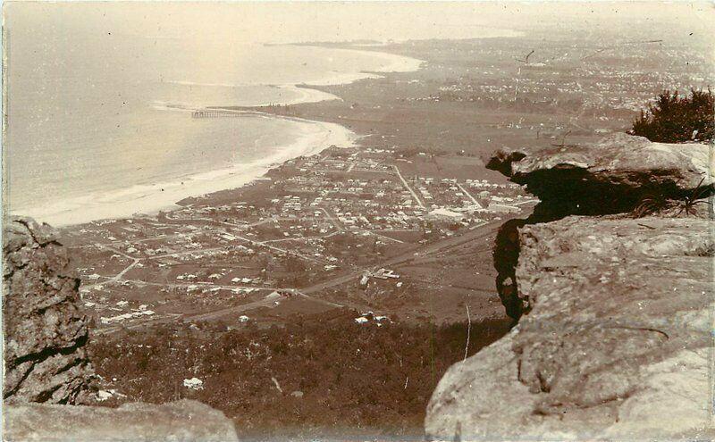 Aerial View C-1910 Sublime Point Sydney Australia RPPC Photo Postcard 1938