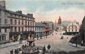 High Street, Dumfries, Scotland, Early Postcard, Used in 1906