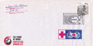 Red Cross Christchurch New Zealand 2x Chairman President Hand Signed FDC