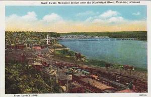 Mark Twain Memorial Bridge over the Mississippi River, Hannibal, Missouri, 10...
