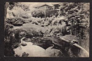 ME Dan Sing Fan House Gift Shop Garden Pool Ogunquit Maine Postcard PC