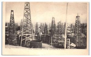 Early 1900s Los Angeles, CA Oil Wells Postcard