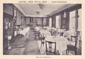 Amsterdam , Netherlands , Hotel Des Pys Bas , Salle a Manger , 20-30s