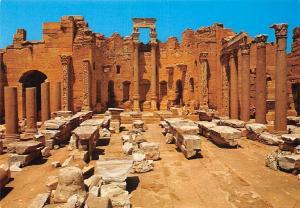Libyan Arab Jamahiriya Leptis Magna The Severan Basilica
