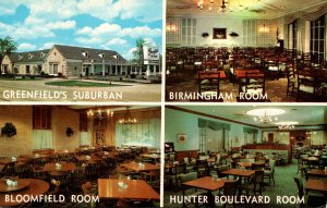 Michigan Birmingham Greenfield's Suburban Restaurant Showing Birmingham ...