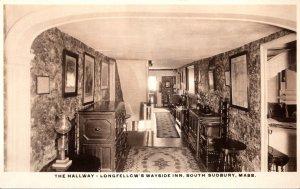 Massachusetts South Sudbury Longfellow's Wayside Inn The Hallway Real Photo