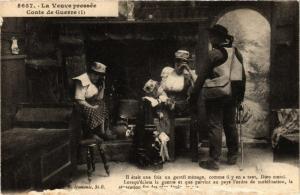 CPA La Veuve pressée, Conte de Guerre FRANCE FOLKLORE (789558)