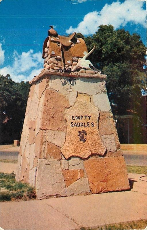 Dalhart Texas~Empty Saddles Monument~Cow Skull~Old Ranch