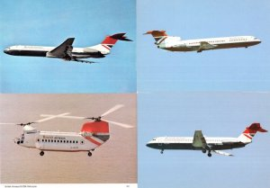 British Airways BV234 Helicopter VC10 Trident 3 BAC 1-11 Postcard s