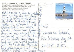 Luftkurort Prien am Chiemsee, Dampferhafen und Schiffsanlegestelle Schloss