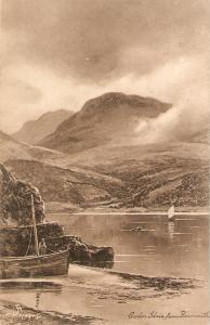 F.W.Hayes. Cader Idris from Barmouth Tuck Art Ser. PC # 996
