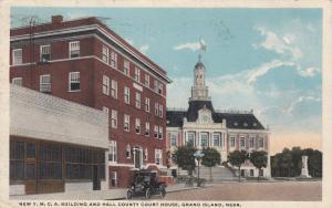 GRAND ISLAND , Nebraska , 1918 ; Y.M.C.A. & Court House