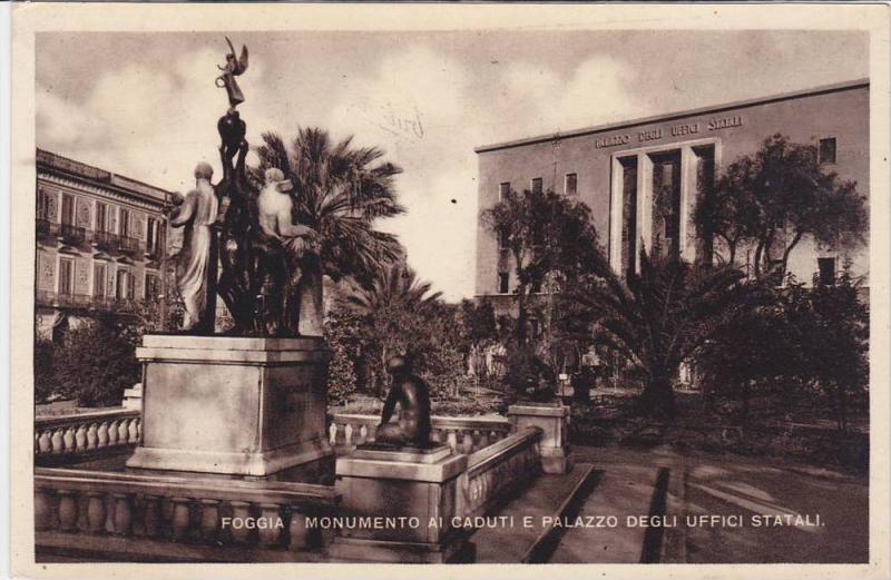 Monumento Ai Caduti E Palazzo Degli Uffici Statali, Foggia (Puglia), Italy, 1...