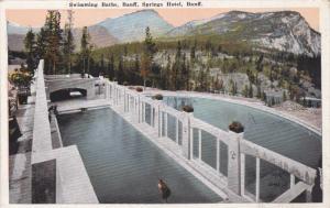 BANFF, Alberta, Canada, 1900-1910's; Swimming Baths, Banff Springs Hotel