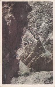 Arizona Grand Canyon Devil's Corkscrew On Bright Angel Trail Fred Harvey Detr...