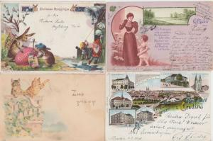 FANTASY ARTISTS 150 Vintage POSTCARDS Mostly pre-1910 with BETTER incl.KIRCHNER