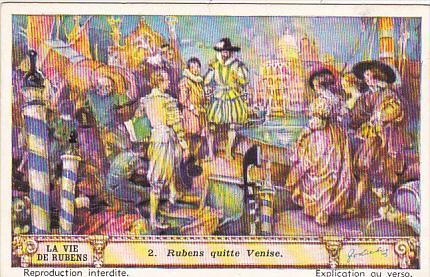 Liebig Trade Card s1421 Life Of Rubens No 2 Rubens quitte Venise