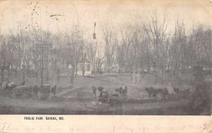 Kahoka Missouri Public Park Birdseye View Antique Postcard K101763