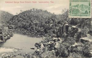 Australia Cataract Gorge from Crow`s Nest Launceston Tasmania Lake Marion stamp