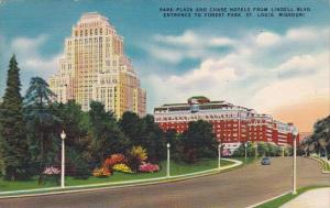 Park Plaza And Chase Hotels From Lindell Boulevard Entrance To Forestr Park S...