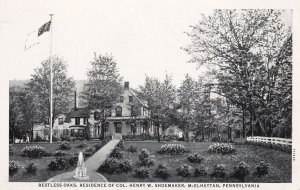 McELHATTAN, Pennsylvania,10-20s; Restless Oaks, Residence of Col. Henry M. Shoem