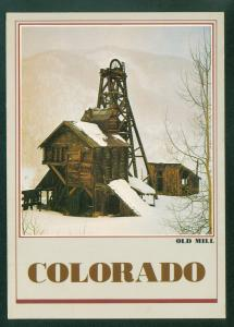 An Old Mill in Colorado Snow Scene CO Continental Postcard