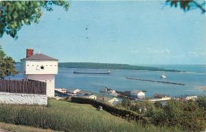 Old Block House Fort Mackinac Island Michigan MI Lake Superior Postcard pm 1963