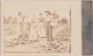 Indiana In Real Photo RPPC Postcard 1909 SOMERVILLE Garden Pipe Harvest