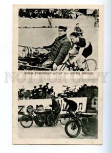 156728 Arthur VANDERSTUYFT Belgian cyclist Motorcycle Vintage