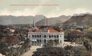Oahu-Honolulu Hawaii~Queen's Palace~Admin Bldg~Iolani-Hulihee c1907 As Is