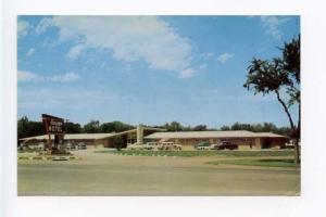 Salina KS Motel Old Cars Postcard
