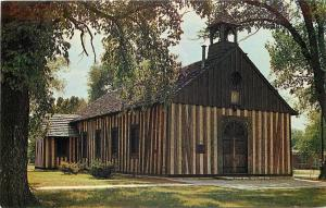 Cahokia Illinois~Old Holy Family Church~East St Louis~1950-60s Postcard