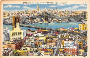 Brooklyn & Williamsburg Bridges in New York City Bridges, New York
