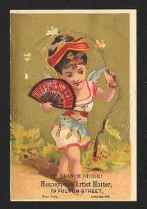 VICTORIAN TRADE CARD Heaney the Artist Hatter
