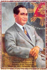 Carlos P Garcia Fourth President of the Republic of the Philippines Non Postc...