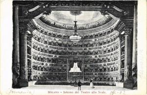 CPA AK MILANO Interno del Teatro alla Scala ITALY (521818)