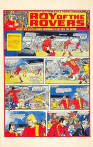 Postcard Roy of The Rovers Melchester Roy Race Comic Strip Cover from 1976