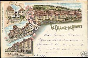 swiss, CHAUX-DE-FONDS, Synagoge SYNAGOGUE 1899 Judaica