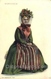 Bornholm Native Costume Postcard Postcards  Bornholm