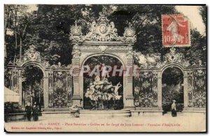 Old Postcard Nancy Place Stanislas iron grilles forge Jean Lamour