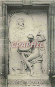 Old Postcard Rouen Normandy Monument Gustave Flauber (the Painting Museum)