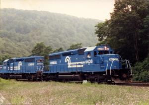 Conrail #6408 and #6361 Train Locomotives  *RPPC (Photo, not postcard)