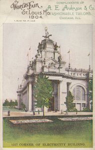 ST. LOUIS, Missouri, 1904 World's Fair ; Corner of Electricity Building