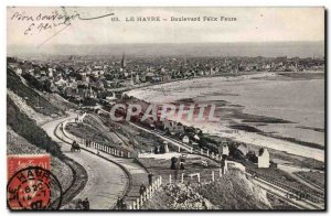 Le Havre - Boulevard Felix Faure - Old Postcard