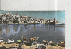 Postal 010337: Playa e Iglesia de Saint Vincent en Collioure, Francia