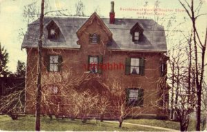 RESIDENCE OF HARRIET BEECHER STOWE HARTFORD, CT 1912