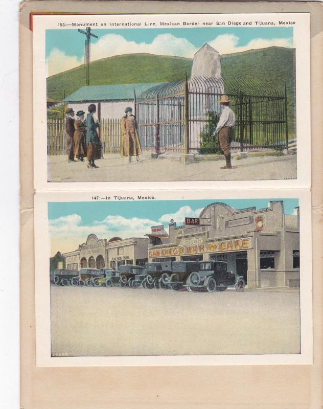 21 view folder postcard , TIJUANA , Mexico , 00-10s
