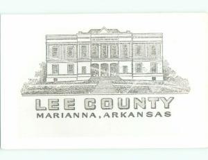 old rppc OLD BUILDING Marianna Arkansas AR i8921