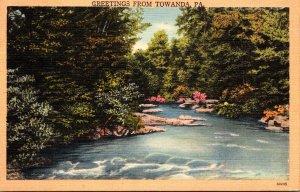 Pennsylvania Greetings From Towanda 1949