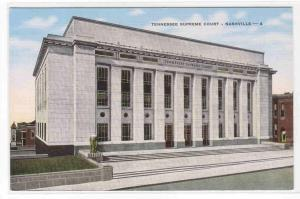Tennessee Supreme Court Nashville TN postcard